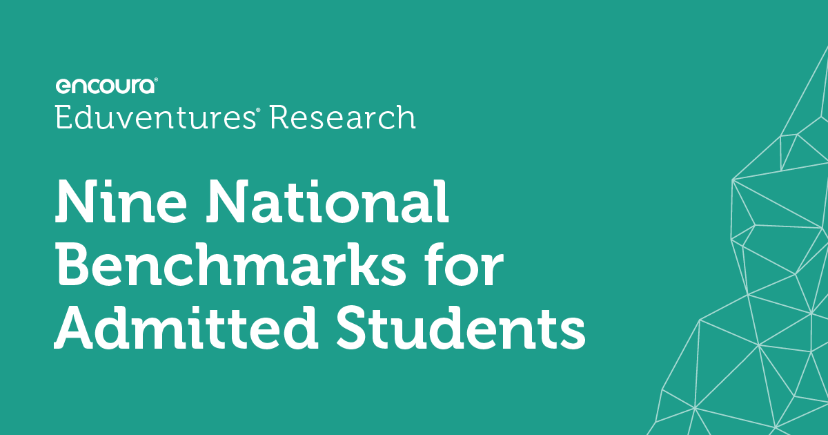 [Infographic] Nine National Benchmarks for Admitted Students