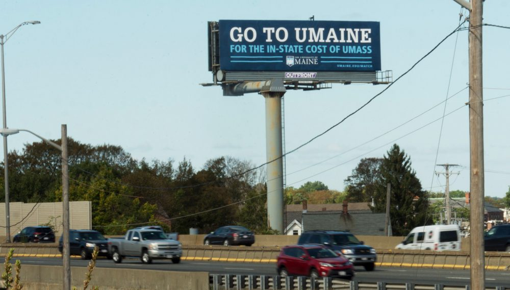 UMaine Billboard Ad - Eduventures Wake-Up Call