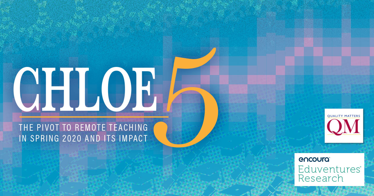 CHLOE 5: The Pivot to Remote Teaching in Spring 2020 and Its Impact